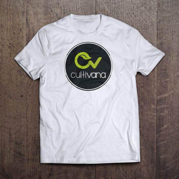 T-Shirt Color blanca con logo original de Cultivana