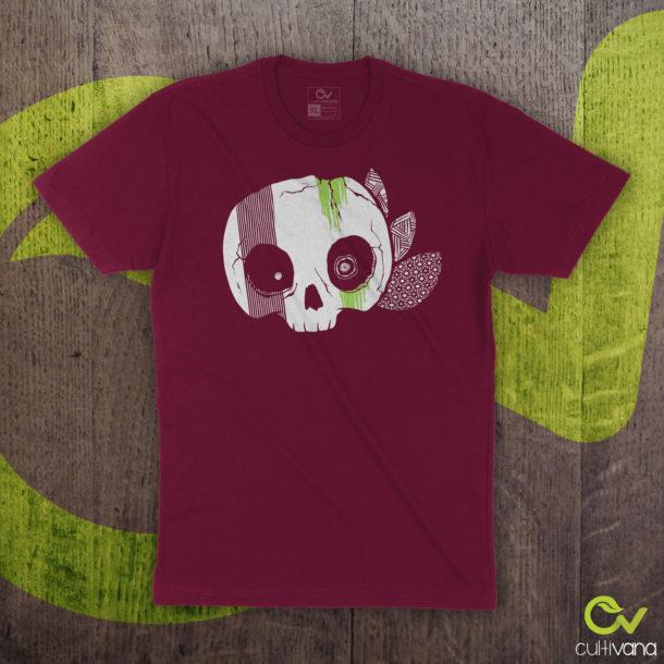 Skull-Maroon T-Shirt